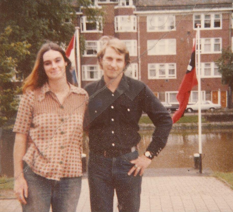 Neil Richard (Rick) Peterson with his young bride in Holland