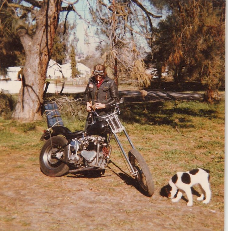 Neil Richard (Rick) Peterson and his dog, mid-70's